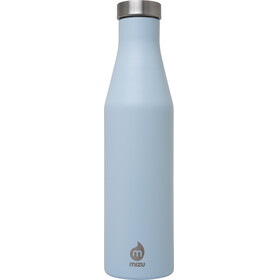 MIZU S6 juomapullo with Stainless Steel Cap 600ml , sininen/hopea